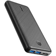 Anker PowerCore Essential 20000 - Batterie Externe 20000 mAh 2 Ports USB avec Technologie PowerIQ et USB-C(entrée Uniquement), Compatible avec iPhone, Samsung, Huawei, iPad et Autres.