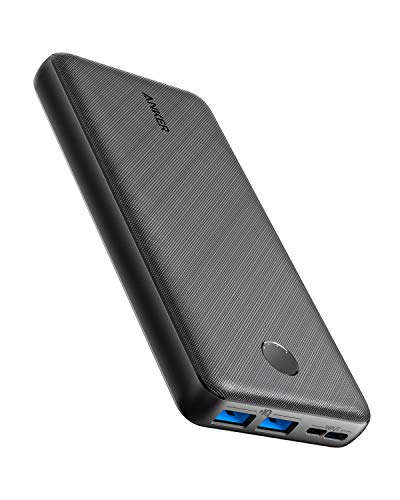 Anker Batterie Externe, PowerCore Essential 20000 Power Bank - Batterie Externe 20000 mAh 2 Ports USB avec Technologie PowerIQ et entrée USB-C, Compatible avec iPhone, Samsung, Huawei,iPad et Autres.
