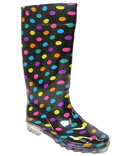 Delle donne delle signore Stivali neve pioggia Festival Wellington Stivali Size EU : 37, 38, 39, 40-MULTI-6