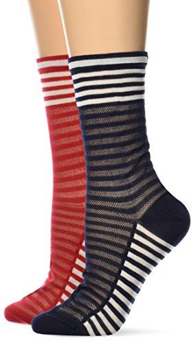 Tommy Hilfiger Damen TH Women Classy Varsity Sock 2P, 2er Pack, Weiß (White 300), 35/38 (Herstellergröße:35)