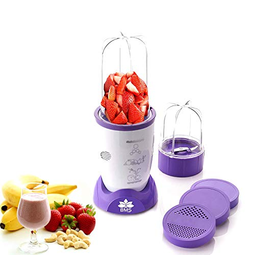 BMS Nutri 400Watt High-Speed Juicer Smoothies Maker Multi-Function Crusher for Fruits Vegetables Ice Shakes and Smoothies,Blender,Mixer, Purple & White (1 Year Warranty)
