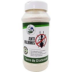 TERRA NOSTRA Terre de Diatomée Anti Fourmis Poudreuse 300gr Utilisable en agriculture biologique