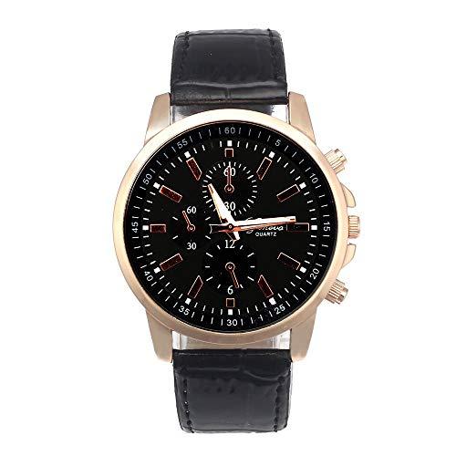 Bestow Reloj Analš®gico de Cuero Geneva Geneva Leather Dial Reloj Deportivo de Cuarzo Dial