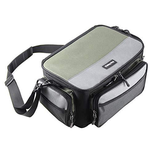 AFFEco Zweifarbige quadratische Angeltasche mit großer Kapazität und Verstellbarer Außentasche