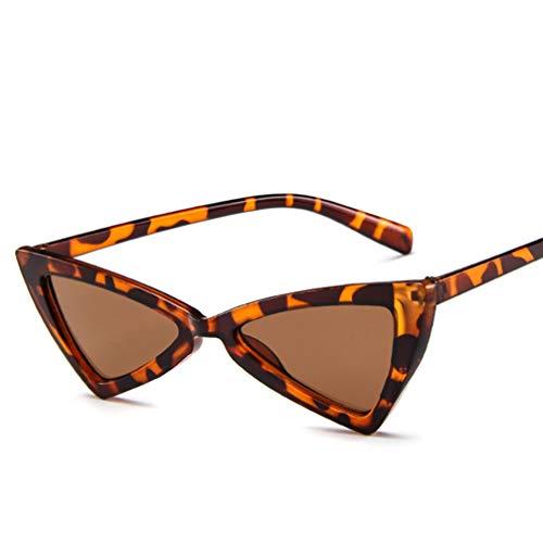 Asolym Sonnenbrille Persönlichkeit Dreieck Katzenaugen Sonnenbrille Männer und Frauen Retro-Sonnenbrille Europa und den Vereinigten Staaten Trend Mode Brille,F