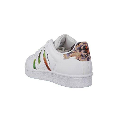 adidas Damen Superstar Sneakers, Silber, for women Weiß