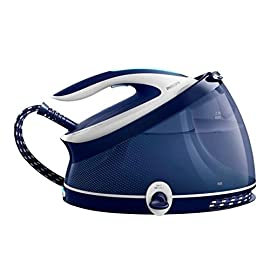 Philips Ferri da Stiro con Caldaia PerfectCare Aqua PRO Ferro da Stiro con Caldaia, Tecnologia OptimalTEMP, 2100 W, 2.5 Litri, Blu/Bianco