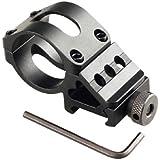 VERY100 Aleación 45 ° Desplazamiento lateral del anillo de 30 mm Barril Picatinny carril del montaje de la linterna de Alcance