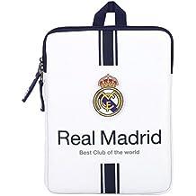 Safta SF-611654-686 - Funda ordenador o tablet 10,6, 1ª equipacion temporada 2016/2017, diseño Real Madrid