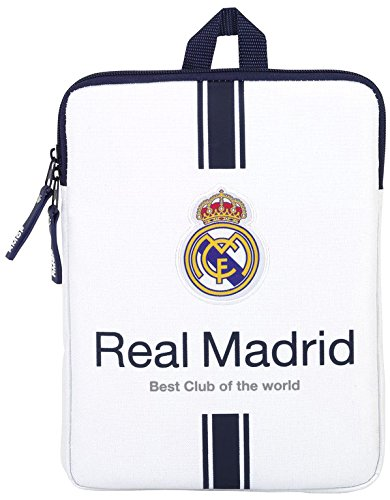 Real Madrid 11654 Maletín, 28 cm, Blanco