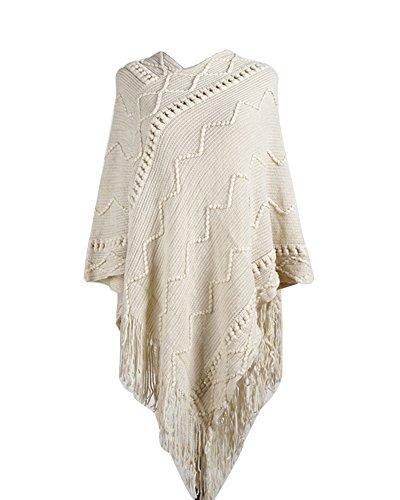 Cardigan a Maniche Lunghe da Donna Loose Casual Jacket Elegante In Maglia Irregolare Maglione Cappotto Giacca Albicocca