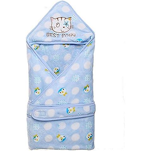Swaddle del abrigo del saco de dormir para el bebé recién nacido del edredón de otoño e invierno salgo de la franela a prueba de viento caliente de la cubierta infantil suave manta para dormir Mantas