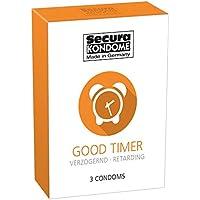 Secura Good Timer 3er Kondome - drei durchsichtige Präservative zur Verhütung mit Benzocain für Männer, verlängert... preisvergleich bei billige-tabletten.eu