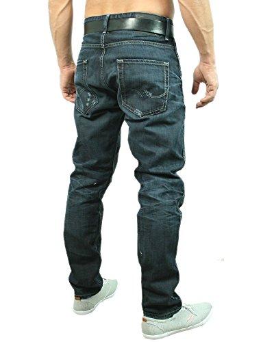 JACK & JONES Herren Jeans Normaler Bund  TIM ORIGINAL 12055160 Blau