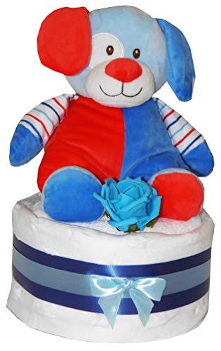 Bébés Garçons Gâteau de Couches Peluche Mignon Bleu Ours Hochet Jouet Design Comprend Blanc Doux Star Couverture Rose Lavage Lingette Fête de Naissance Bébé Naissance Maternité Cadeau