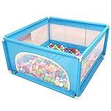 Box per Bambini, Box Portatile for Neonati/Bambini Piccoli - Recinzione Interna da Giardino a Prova di Caduta, Centro di attività di Sicurezza for Bambini - 120 × 120 × 62 cm (Color : Blue)