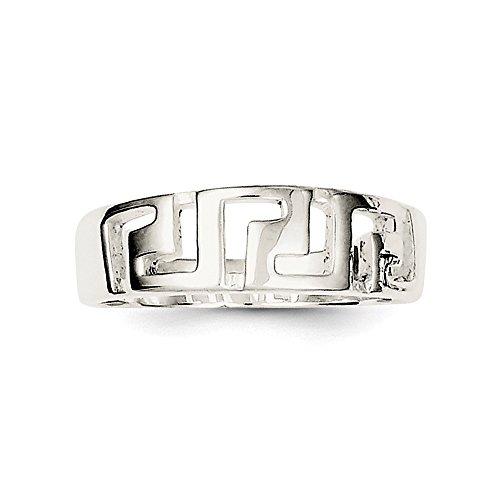 Ring Design Griechischer Schlüssel Sterling Silber - JewelryWeb