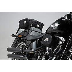 SW Motech, HTA.18.793.11000SLC Lado portaequipajes para Harley Davidson Softail Modelos, Negro, 1