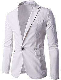 Ai.Moichien Hombres Ajustes Fit Premium Linen Blazer Chaquetas Casual Suit Coats Multi Color