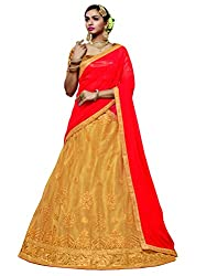 DesiButiks Wedding Wear Elegant Chickoo Net Designer Lehenga