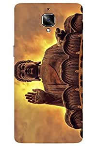 AMAN Gautama Buddha 3D Back Cover for OnePlus 3
