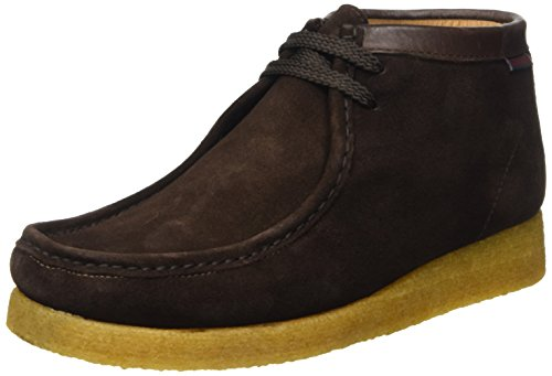 Sebago Koala Hi, Scarpe Brogue Stringate Unisex Adulto, Marrone (Suede Dark Brown), 43 EU