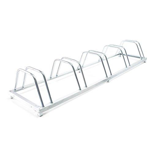 Fahrradständer für 5 Räder 158x39x25cm verzinkt und für Wandmontage geeignet