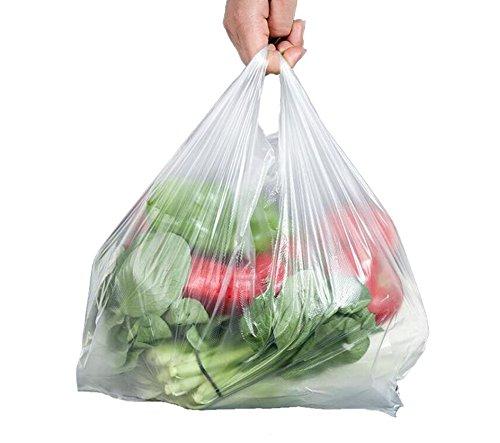30-mikron-tasche (Große Kunststoff-Tragetaschen, 30 Mikron, transparente T-Shirt-Tragetaschen, für Supermarkt, Einzelhandel, Einkaufen, Haushalt, Lebensmittel, zweiseitige Aufbewahrungstaschen, 100 Stück, 8.7x12.5inch)