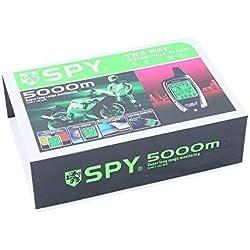 Universal Spy 5000M 2Vías de la motocicleta Alarma con Mando a Distancia Motor Start & Sensor de proximidad construido en Shock Sensor