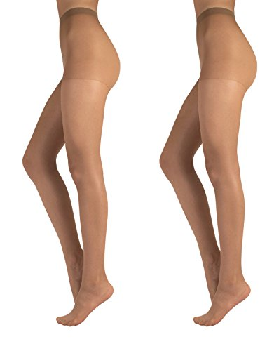 LOT DE 2 COLLANTS VOILE 20 DEN | COLLANT TRANSPARENT AVEC CULOTTE RENFORCÉE | NATUREL, NOIR, BLUE | S, M, L, XL, XXL | FABRIQUÉ EN ITALIE |