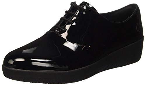 Fitflop Classic Tassel Superoxford Tm, Scarpe Low-Top Donna, Nero (Black), 37 EU