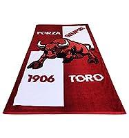Fantastico telo mare in spugna di cotone 100% con scritta FORZA TORO...SEMPRE.Tex Family firma questo telo mare del toro in morbida spugna vellutata ispirato al Torino calcio, una grande squadra, il GRANDE TORO, l'unico club al mondo che vant...