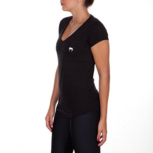 Venum Damen V Ansatz T- Shirt V Ansatz Essential Schwarz