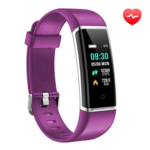 AUSUN Fitness Tracker, FT901HR Orologio Fitness Activity Tracker Cardio Impermeabile IP67 Smart Watch Cardiofrequenzimetro, Viola