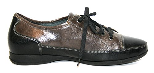 Theresia Muck Hillu M62832 274 Damen Schuhe Halbschuhe, Weite H Grau (schwarz/anthrazit 037)
