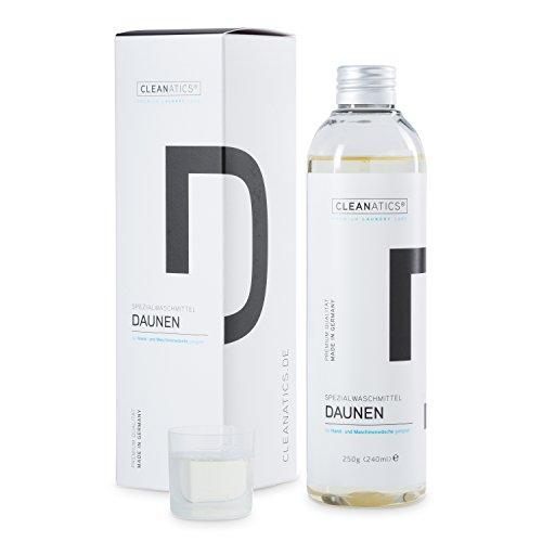 CLEANATICS Daunenwaschmittel Konzentrat mit Lanolin für Daunenjacke, Daunenweste, Daunendecke, Daunenkissen & Daunenbettdecke (250 g)