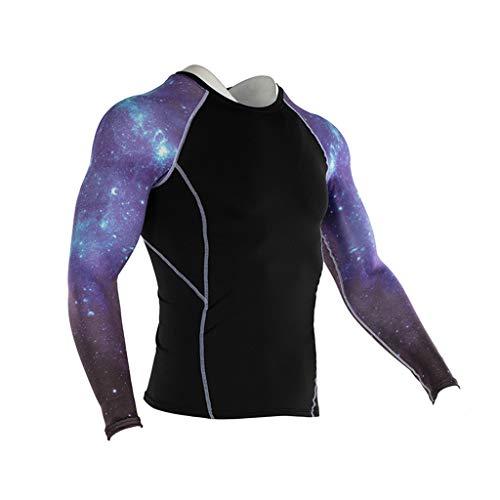 DNOQN Sport Poloshirt Herren Mode Herren Yoga Fitness Soft T-Shirt Schnelltrocknende Sport Druck Top Bluse XL