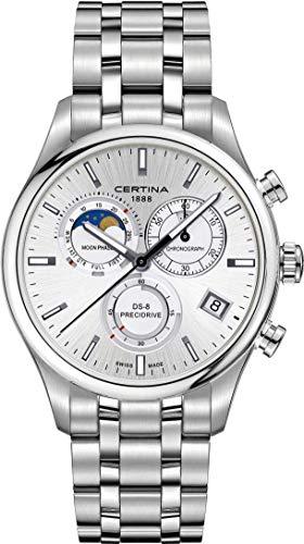 Certina DS-8 Moon Phase C033.450.11.031.00 Chronographe pour homme Indicateur de la phase de la lune