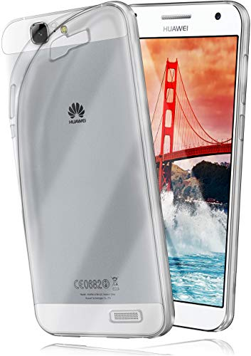 moex Huawei G7 | Hülle Silikon Transparent Klar Clear Back-Cover TPU Schutzhülle Dünn Handyhülle für Huawei Ascend G7 Case Ultra-Slim Silikonhülle Rückseite