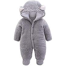 5cca7adc08a8e Amlaiworld Ropa Bebe niño Invierno Bebés recién Nacidos niñas niños Mono  con Capucha de Terciopelo de
