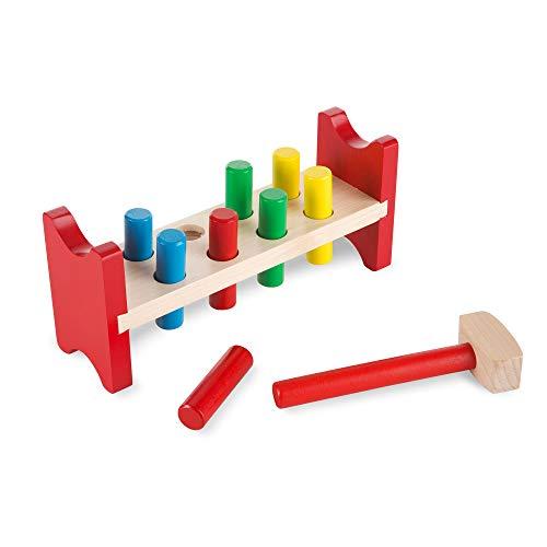 Melissa & Doug, établi Deluxe à marteler, jouet pour tout-petits (jouet en bois avec maillet)