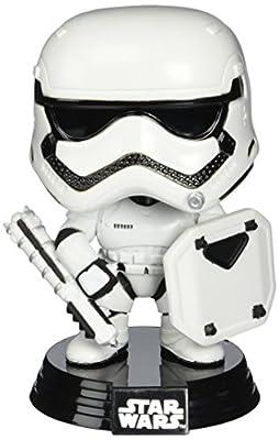 Figurine Pop ! Star Wars 75 - Bobble-Head First Order Stormtrooper (avec bouclier) (Star Wars : Le Réveil de la Force)