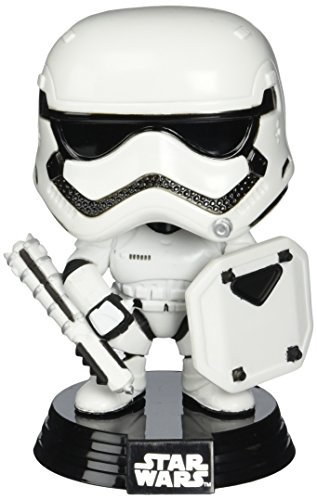 Star Wars Episode VII POP! Vinyl Bobble Head First Order Stormtrooper with Shield 9 cm Funko
