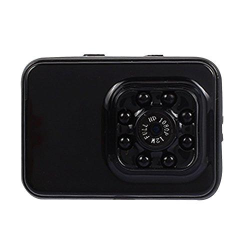 ZZH Action Camera, HD Small Sports DV Night Vision Telecamera a infrarossi Fotocamere compatte 1080P Supporto per registratore di schede TF