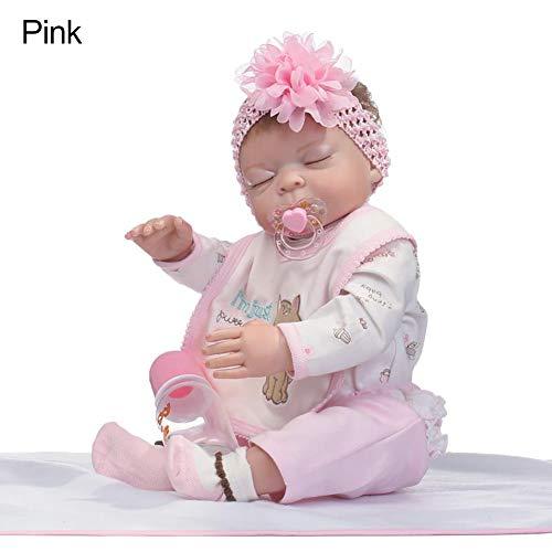 XdremYU 50 cm lebensechte Neugeborene Baby Puppe mädchen Boy Vinyl silikon Pretend Play Reborn Spielzeug Rosa (Kinderwagen Spielzeug Baby Boy)