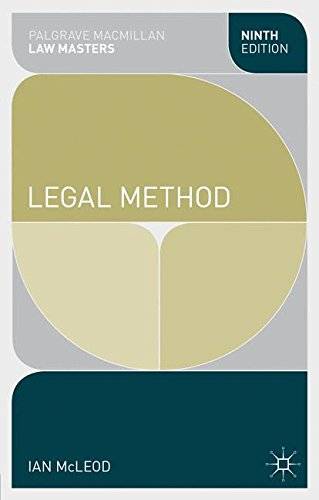 Legal Method (Palgrave Macmillan Law Masters)