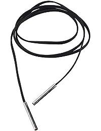 Contever® Accesorios para Collar bisutería Bohemio Cuerda Aleación Cuero Colgante Collar Ajustable para Mujer (Plata)