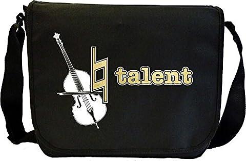 Double Bass Natural Talent - Sheet Music Document Bag Sacoche de Musique MusicaliTee