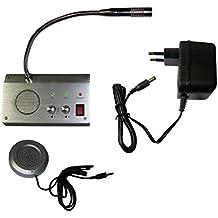 Banco contador ventana Intercom sistema dual-manera micrófono 2w/2w