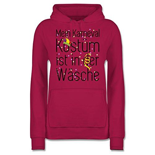 Der Zubehör Komiker Kostüm - Shirtracer Karneval & Fasching - Mein Karneval Kostüm ist in der Wäsche - L - Fuchsia - JH001F - Damen Hoodie